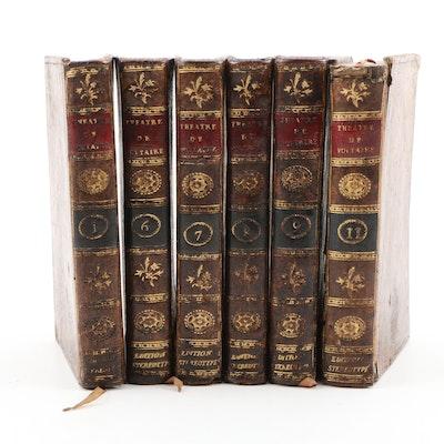 """1801 """"Théatre de Voltaire"""", Partial Set of Leather Bound Volumes"""