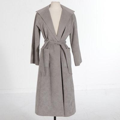 Gino Rossi Dove Grey Ultrasuede Coat, Vintage