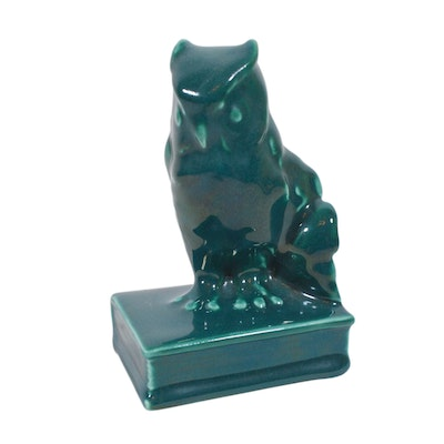 Rookwood Pottery Owl Bookend, 1946