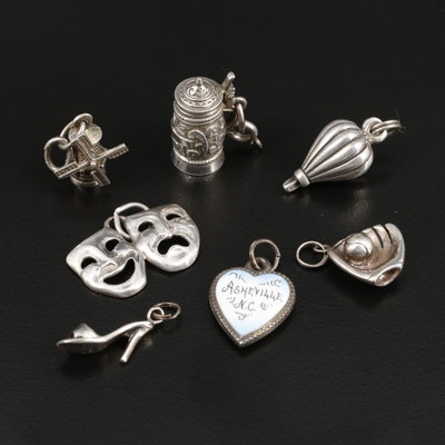 Sterling Silver Figural Charms Including Enamel