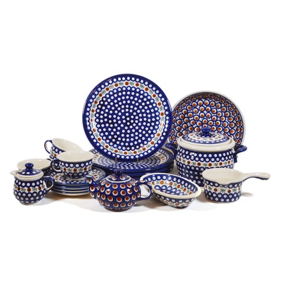 Boleslawiec Polish Pottery Lidded Jar, Dinnerware and More