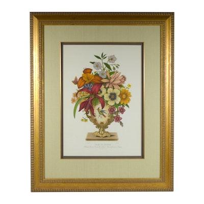 """Offset Lithograph after Jean Louis Prévost """"Vase De Sèvres"""""""