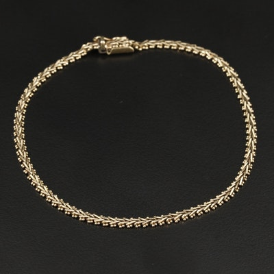Vintage 14K Yellow Gold Riccio Chain Bracelet