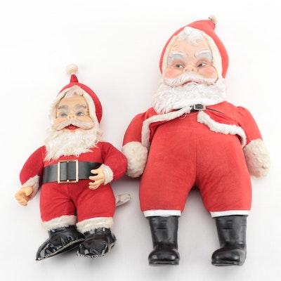 "Rushton ""Coca Cola"" and Other Vintage Plush Santas"