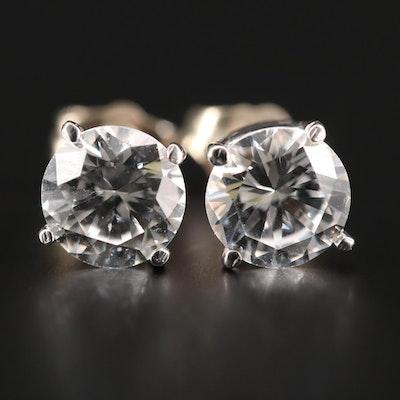 14K White Gold YAG Earrings