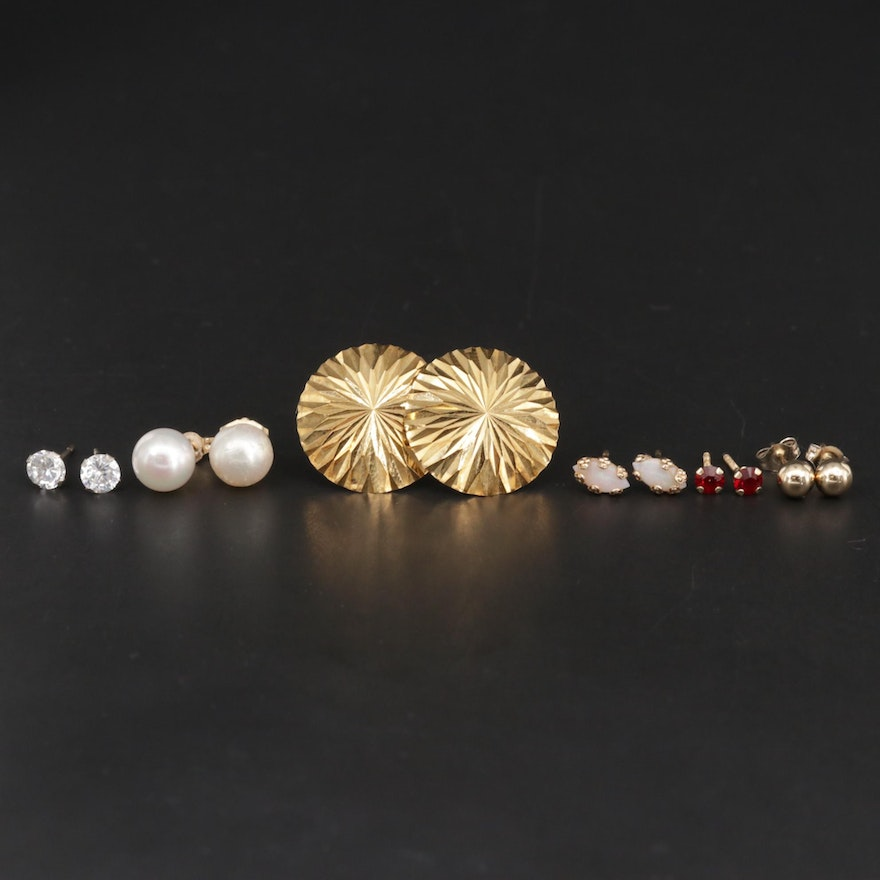 Mixed Gold and Gemstone Earring Assortment