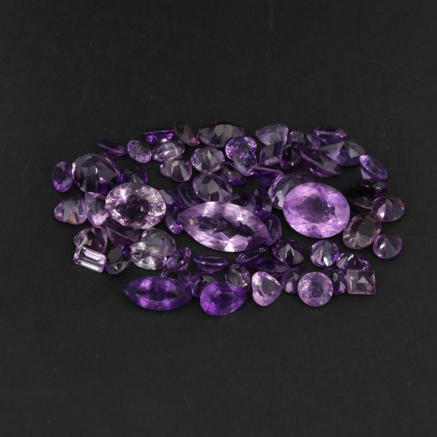 Loose 30.72 CTW Amethyst Gemstones