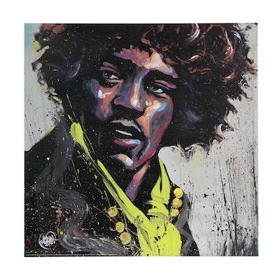 """Offset Lithograph After David Garibaldi """"Hues of Hendrix"""", 2009"""