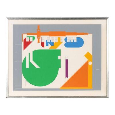 "Bill Sontag Serigraph ""Urban Walls: Cincinnati"""