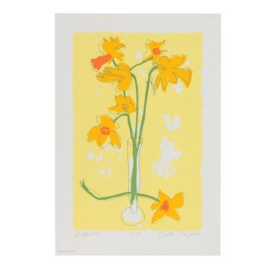 "Brett Harper Serigraph ""Daffodils,"" 1976"
