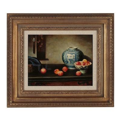 Henry Woo Still Life Oil Painting