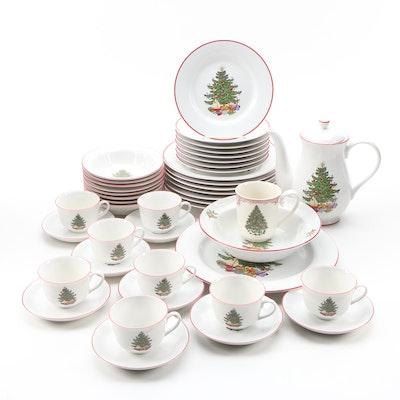 "Cuthbertson ""American Christmas Tree"" Ceramic Dinnerware, 1985–2001"