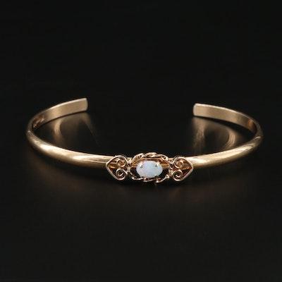 Krementz Opal Cuff Bracelet