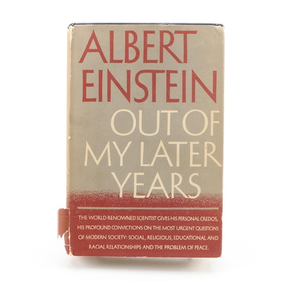 """First Edition """"Out of My Later Years"""" by Albert Einstein"""