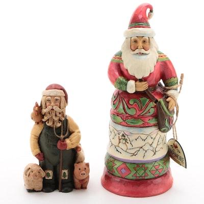 Early Jim Shore Santa Figurine and Kindly Kris Kringle