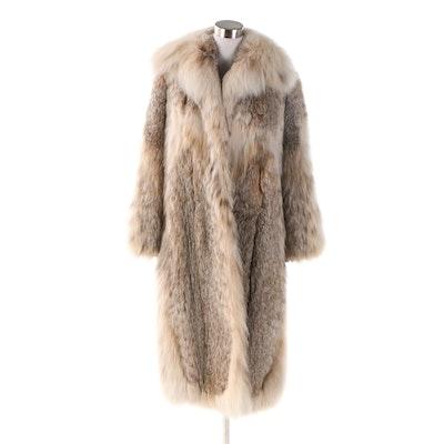 Lynx Fur Coat with Shawl Collar