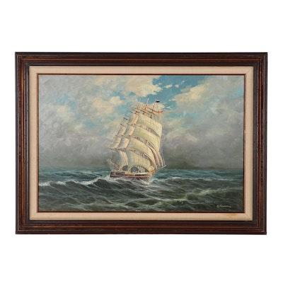 Gunter Seekatz Maritime Oil Painting