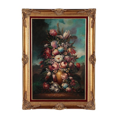 Taglia Pierry Floral Still Life Oil Painting