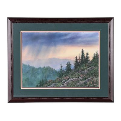 "Robert A. Tino Offset Lithograph ""High Country Rain"""