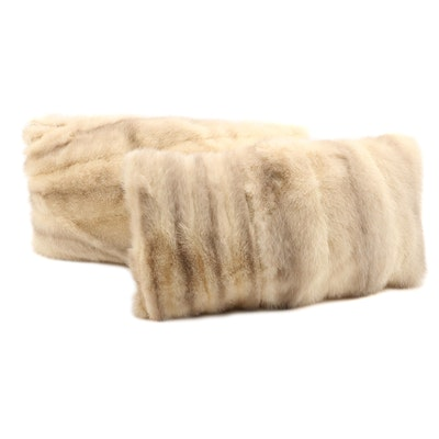 Mink Fur and Velvet Throw Pillows