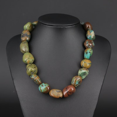 Turquoise Nugget Strung Necklace