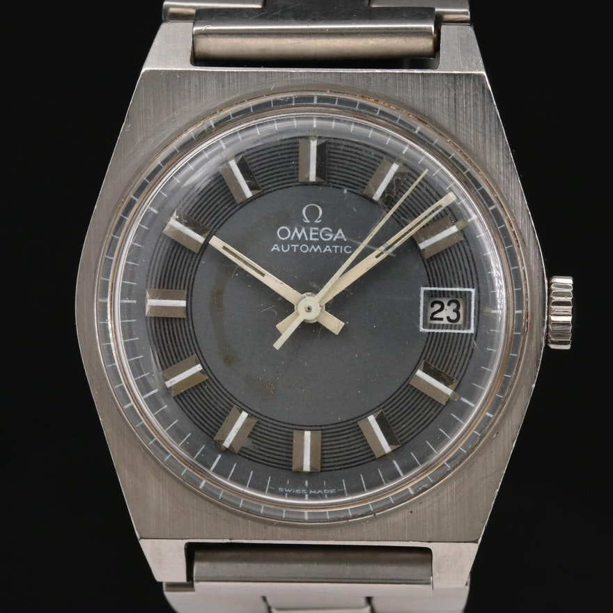 Vintage Omega Geneve Stainless Steel Automatic Wristwatch, 1971