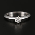 Tiffany & Co Platinum Solitaire Ring Mounting with 0.24 CT Diamond