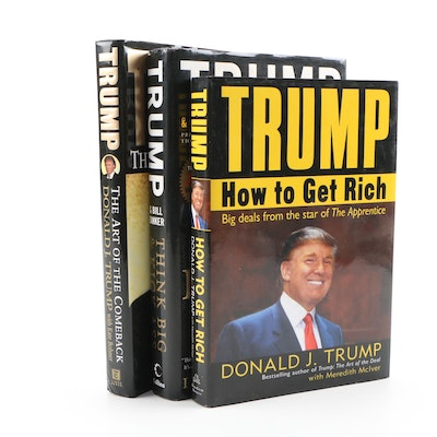 """Donald Trump Books featuring First Edition """"The Art of the Comeback"""""""