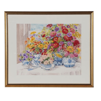 Carolyn Bucha Floral Still Life Watercolor Painting