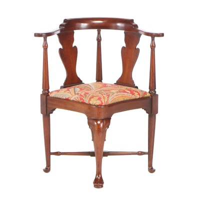 Hickory Chair Co. George II Style Mahogany Corner Armchair