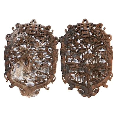 Chinese Carved Wood Wall Hangings