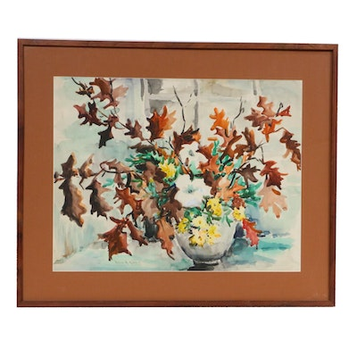 Helen Hare Still Life Watercolor Painting