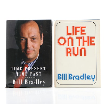 """""""Time Present, Time Past"""" and """"Life on the Run"""" by Bill Bradley, First Editions"""