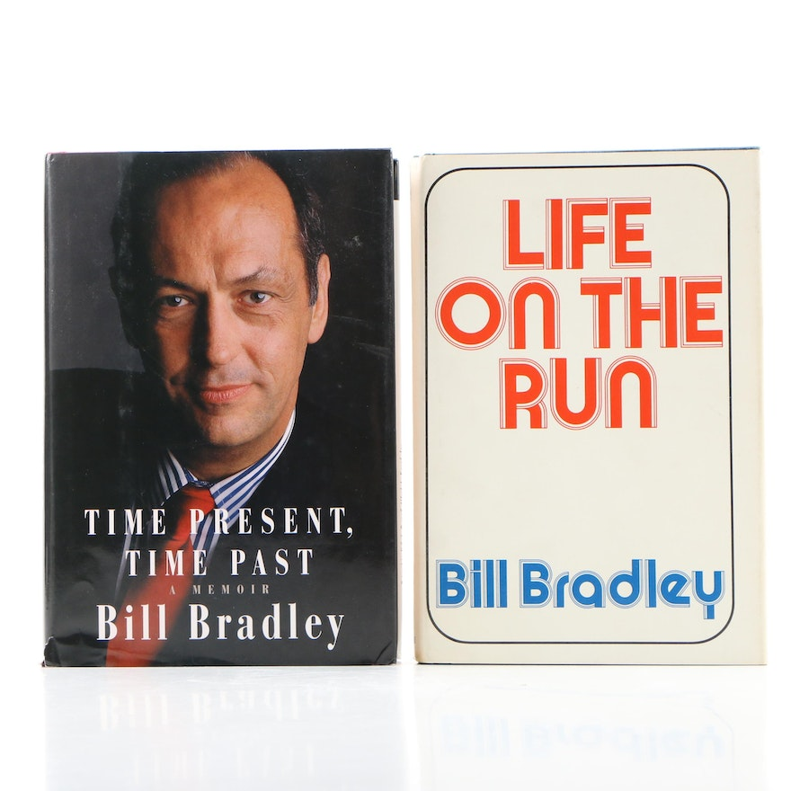 """Time Present, Time Past"" and ""Life on the Run"" by Bill Bradley, First Editions"