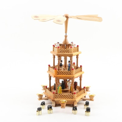 Wooden German Christmas Pyramid