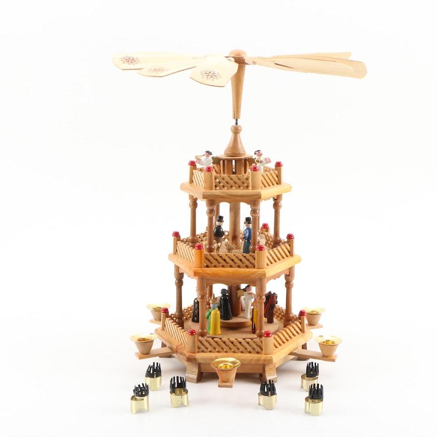 Wooden German Christmas Pyramid