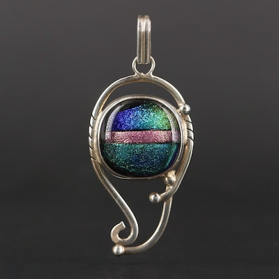 Sterling Silver Glass Pendant
