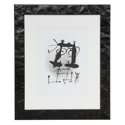 """Joan Miró Lithograph for """"Derrière le Miroir,"""" 1967"""