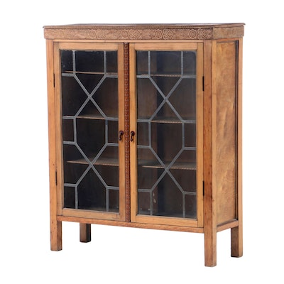 Pine, Plywood, and Pressed Wood Bookcase, Early 20th Century