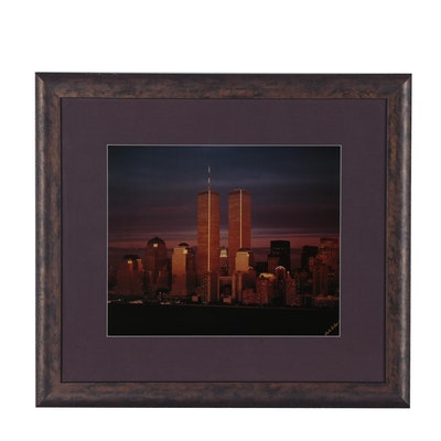 "Offset Lithograph after Dale Fisher ""World Trade Center"", circa 1997"