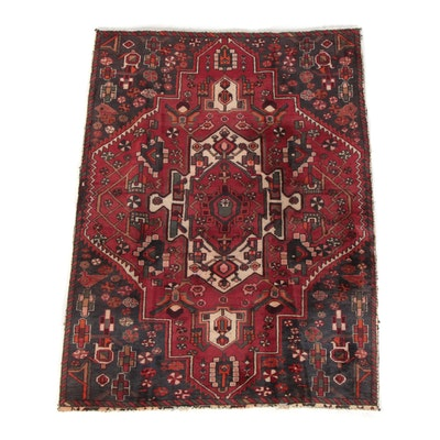 4'5 x 5'10 Hand-Knotted Northwest Persian Wool Area Rug