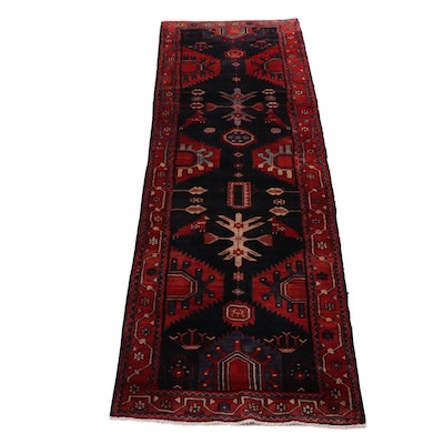 3'3 x 10'6 Hand-Knotted Northwest Persian Pictorial Rug Runner, circa 1970