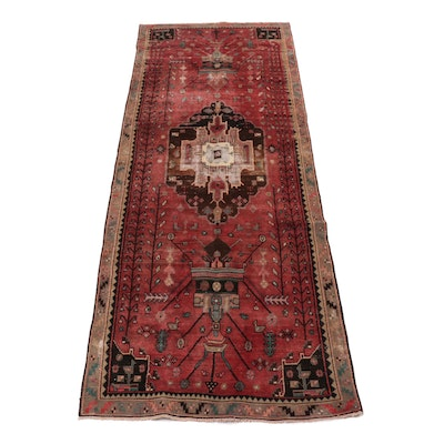 4'3 x 12' Hand-Knotted Northwest Persian Rug Runner, circa 1960