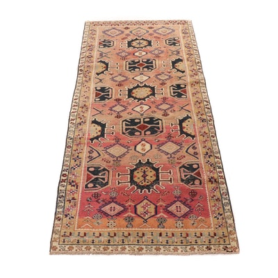 4'4 x 10'3 Hand-Knotted Northwest Persian Rug Runner, circa 1950