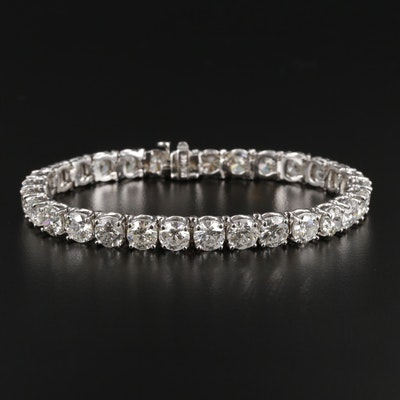 14K White Gold 18.75 CTW Diamond Tennis Bracelet