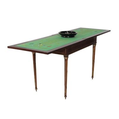 Napoleon III Brass-Mounted Games Table with Roulette Wheel, Mid to Late 19th c.