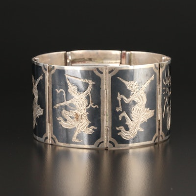 Sterling Silver Neillo Panel Bracelet