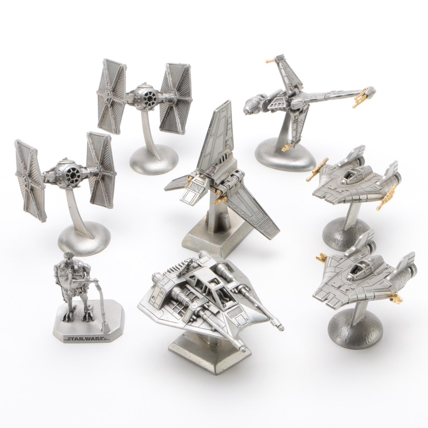 Rawcliffe Pewter Star Wars Ships and Sy Snootles Figure, 1994