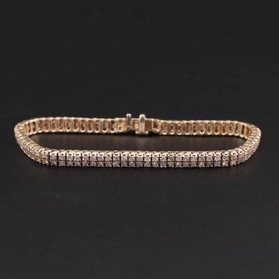 14K Yellow Gold 3.04 CTW Diamond Bracelet