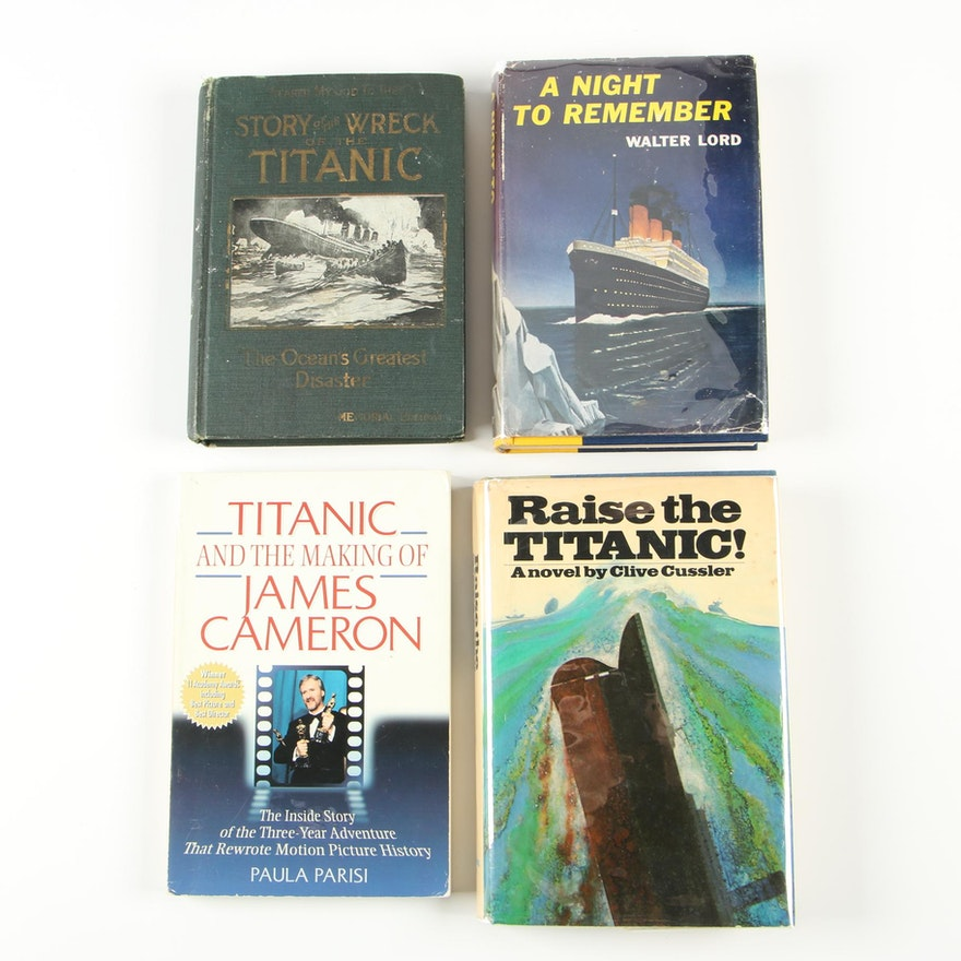 "First Edition, First State ""Raise the Titanic"" with First Edition Titanic Books"